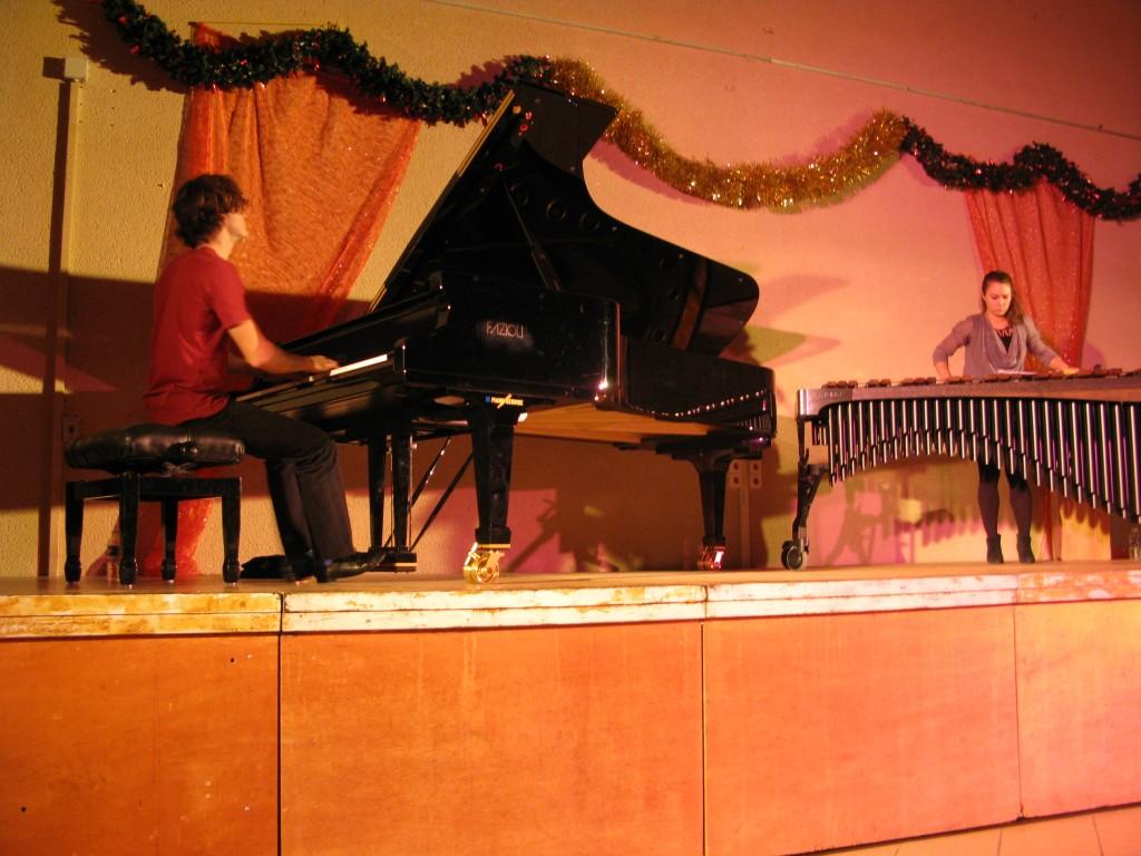 Thomas au piano et Vassilena au marimba
