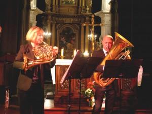 Camille LEBREQUIER (cor) et Benoît FOURREAU (tuba)